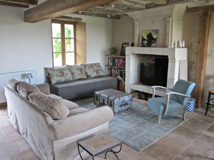 Loving restoration retains authenticity of original structure and regional vernacular.