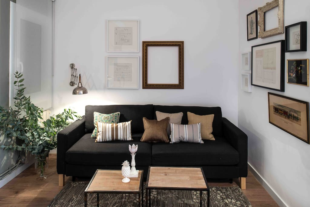 convertible sofa-bed for 2 people
