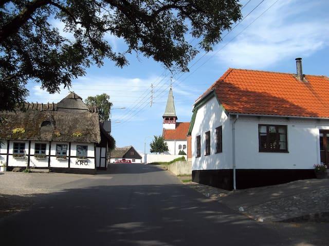 Længe i fredet stråtækt gård - GØRLEV - Casa