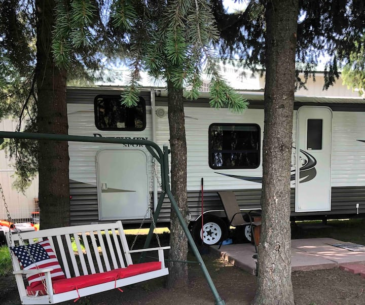 A little bit of country in our RV close to town.