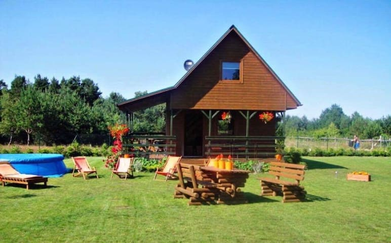 "Wooden Cabin ""Lawendowe Zacisze""50 km from Tricity"