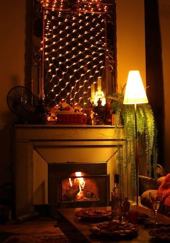 Ma cheminée est fonctionnelle, cela est très rare à Lyon