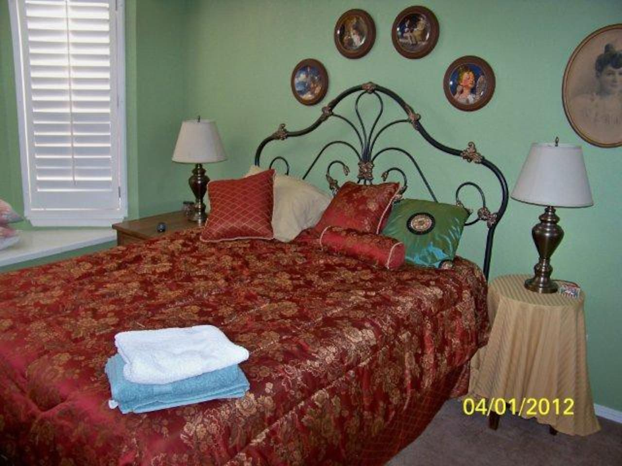 This is the bedroom that is available for rent.