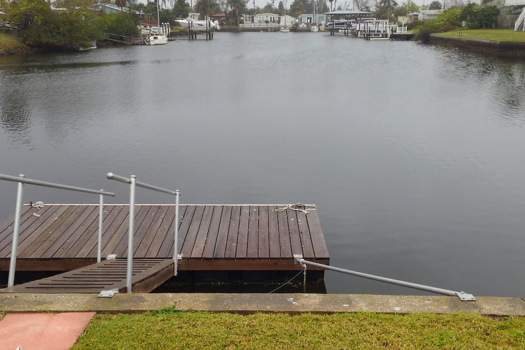 Dock for swimming or to tie up your 30ft or smaller boat!