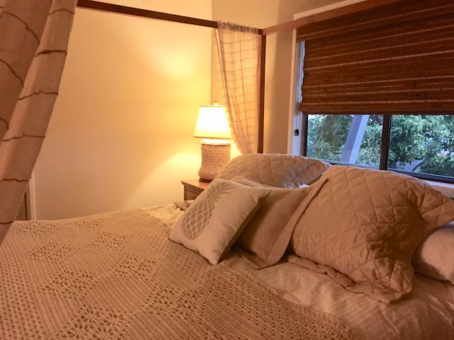 Relax here after a day of snorkeling and exploring the tropical island life