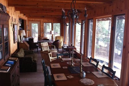 lakefront cottage on chain of lakes - Three Lakes - Kabin