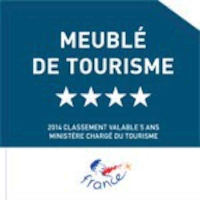 Gîte évalué par le Comité Départemental du Tourisme de Gironde à 4 étoiles « hébergement de très bon confort, de grande qualité », sur une échelle de 5.