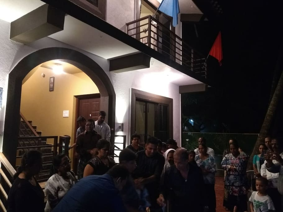Party hosted at our guesthouse
