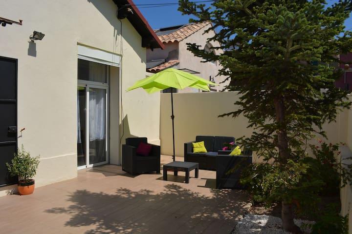 Maison 8pers terrasse ensoleillée 200m plage Prado - Marsella - Casa