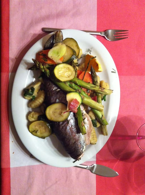 Fish and vegetables for dinner?