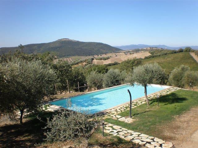 mare e colline in Maremma  Toscana  - Campagnatico - วิลล่า