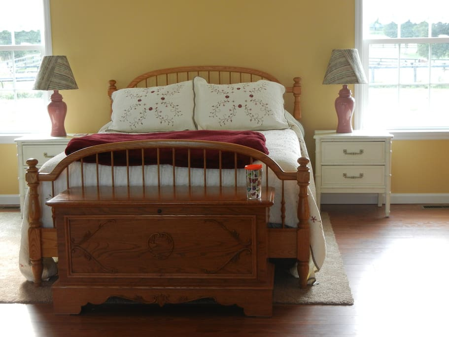 Brand new queen bed and new linens
