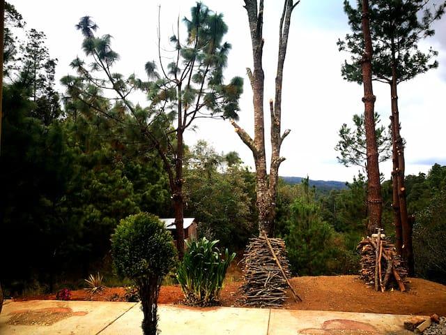 Exterior Cabaña, vistas  a la sierra