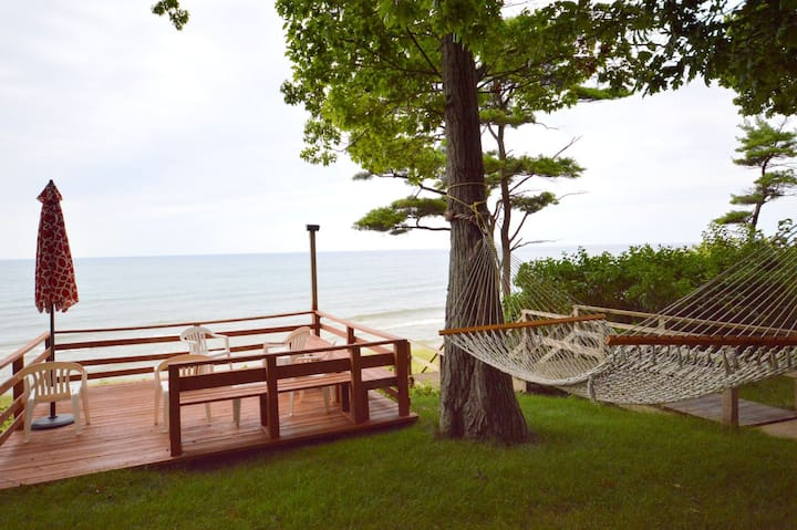 A Sunset View has Private Lake Michigan Beach Frontage!