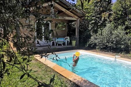 Chalet cocooning climatisé avec piscine