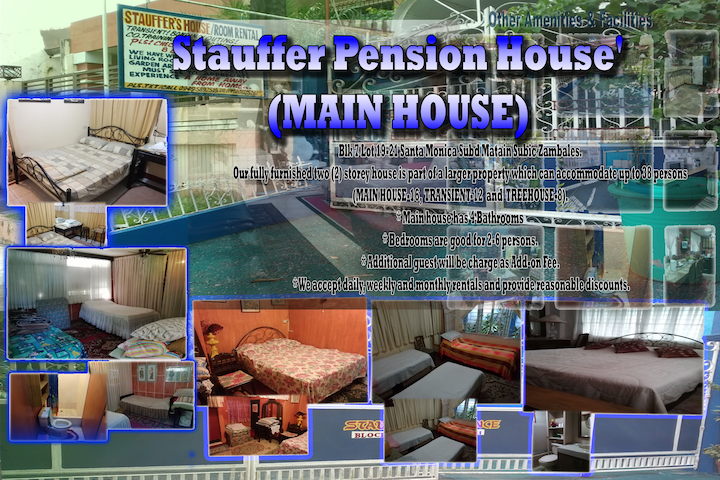 Stauffer Pension House' (MAIN HOUSE) 2-16+ Pax