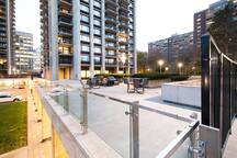 Stay Alfred Boston Vacation Rental Patio