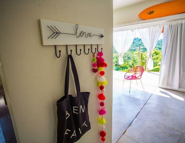 Key, bag and towel hooks