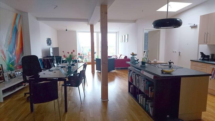 Fully furnished + bright loft in Prenzlauer Berg.