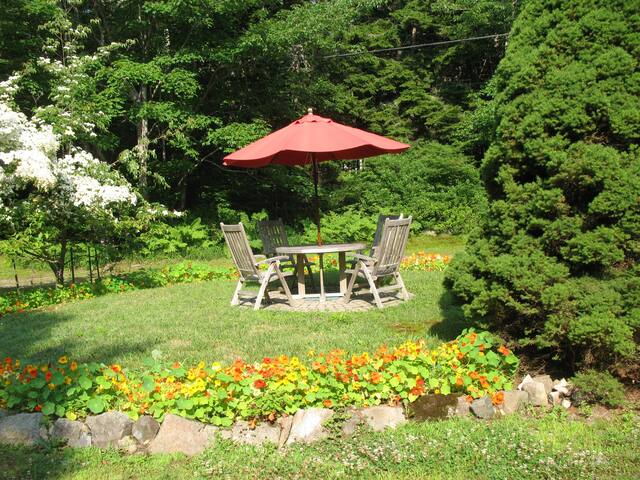 Enjoy relaxing or picnicking by our garden.