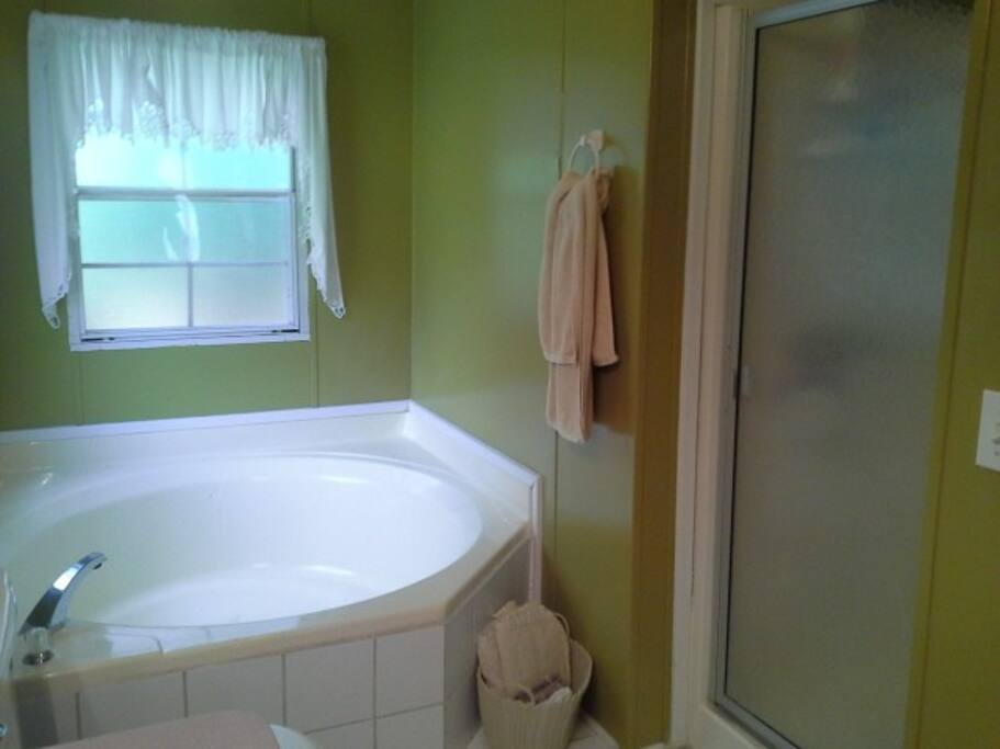 Master Bath  garden tub and shower