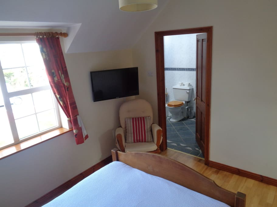 Ensuite room with TV