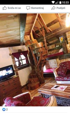 Vikendica- brvnara- planinska kuca
