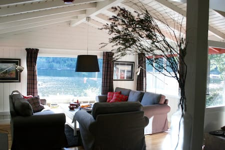 Light & Open Modern Cabin with Rustic Throw-backs - Byglandsfjord
