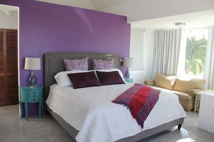 Room 2 with king bed and private bathroom