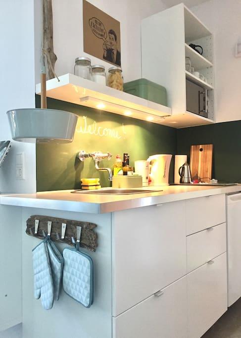 voll ausgestattete neue Küche