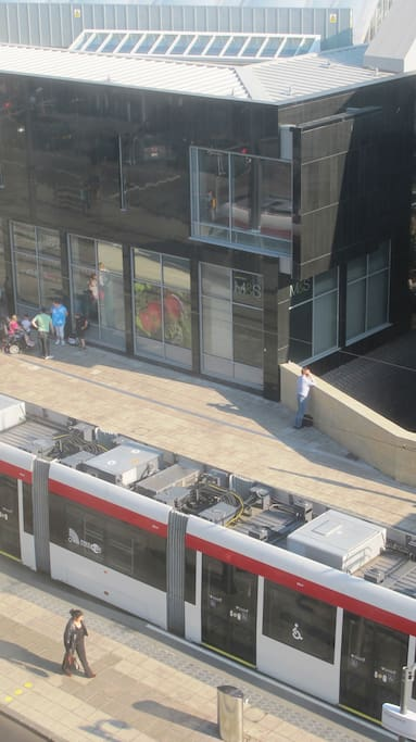 New tram system operates from street below