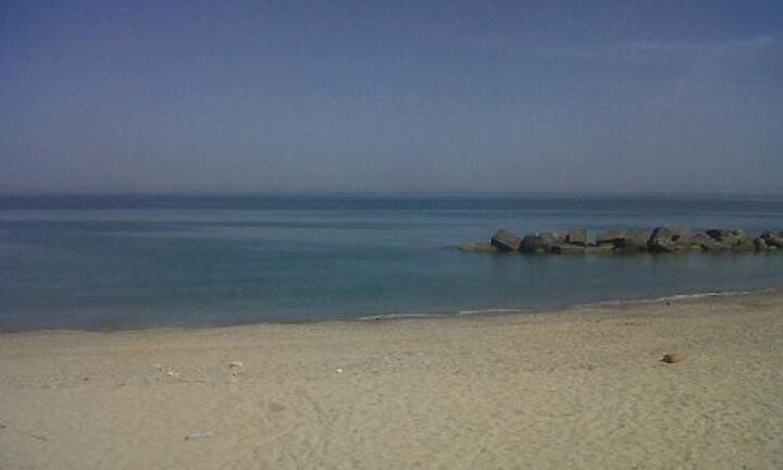 Apartment 150 meters from the sea.