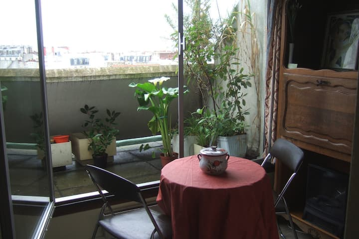 Cosy studio and terrace, 20m2, close Montmartre.