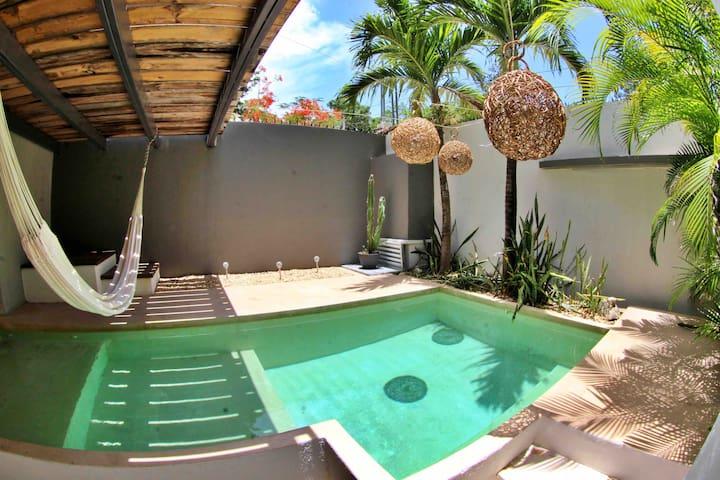 Lux Room w/balcony &  pool in Tulum's nature