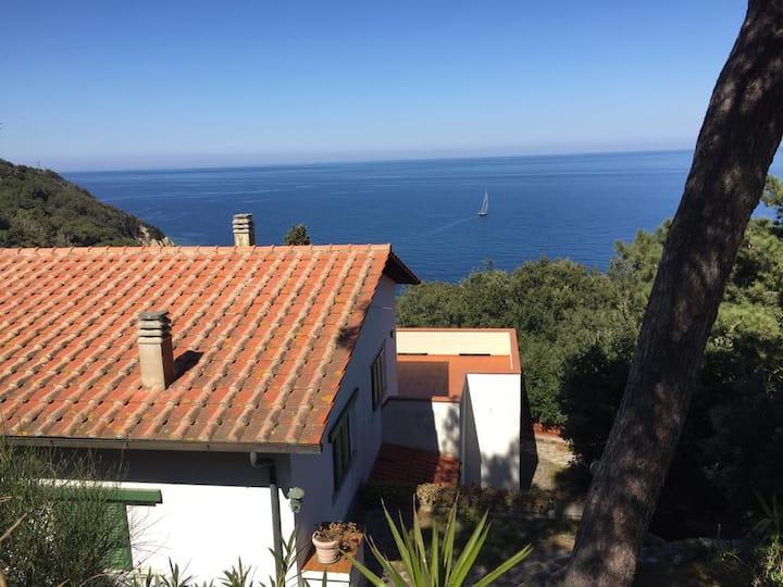 Casa indipendente in villa vista mare Portoferraio
