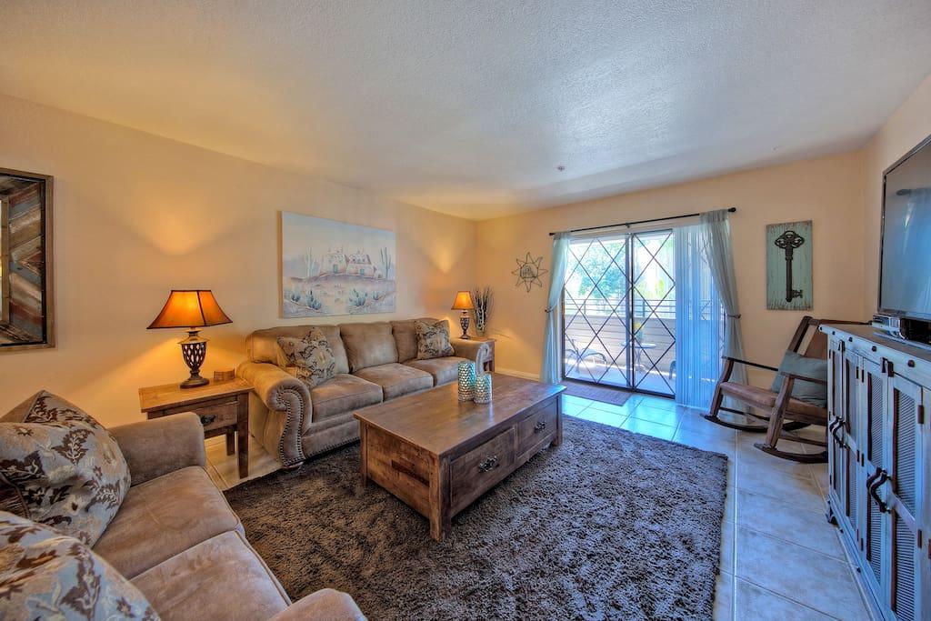 Cozy Living Room with Balcony
