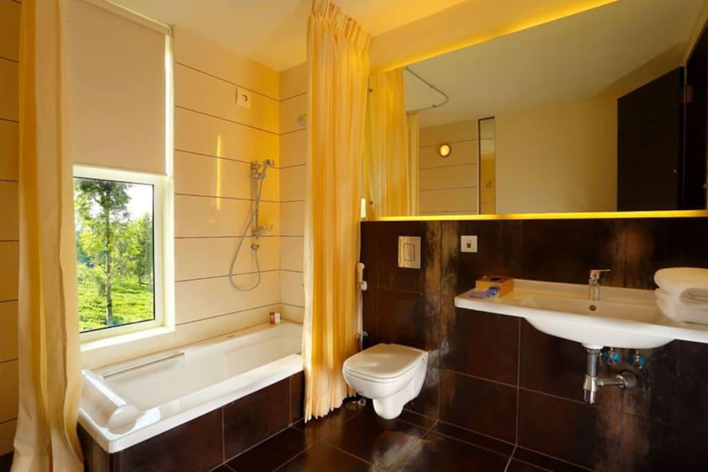 Spacious Bathrooms with Bathtubs