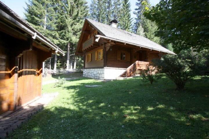 Hütte mit Nebengebäude