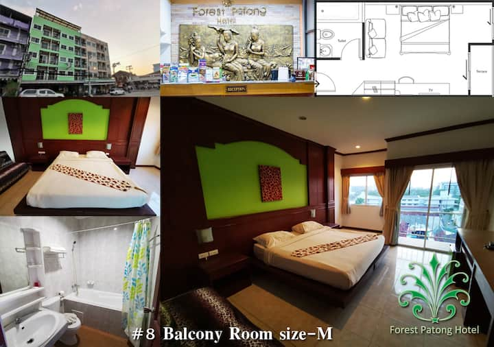 Balcony Room 8 size-M @ Forest Patong