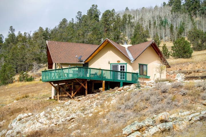 Divine Vista - Unique Home near X-Country Skiing, Large Deck, King Bed, Satellite TV, Washer/Dryer - Red River - Hus