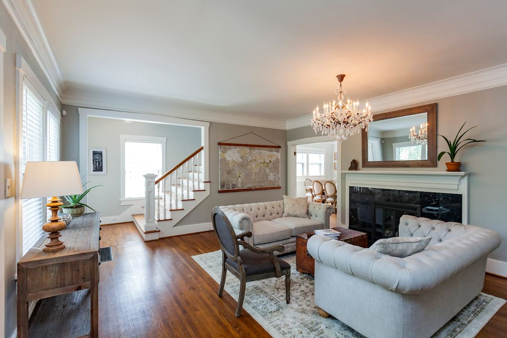 Living Room- elegant southern charm with brand new furnishings