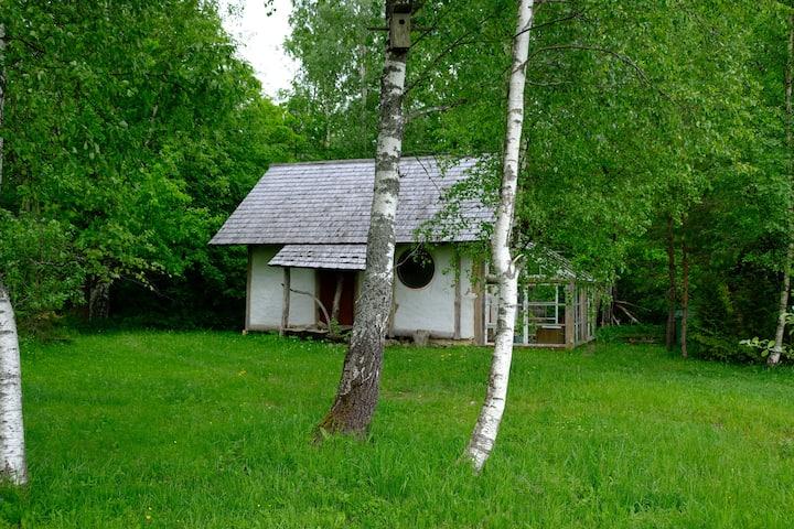Puhkemaja Uuemõisa tammiku põliste tammede all