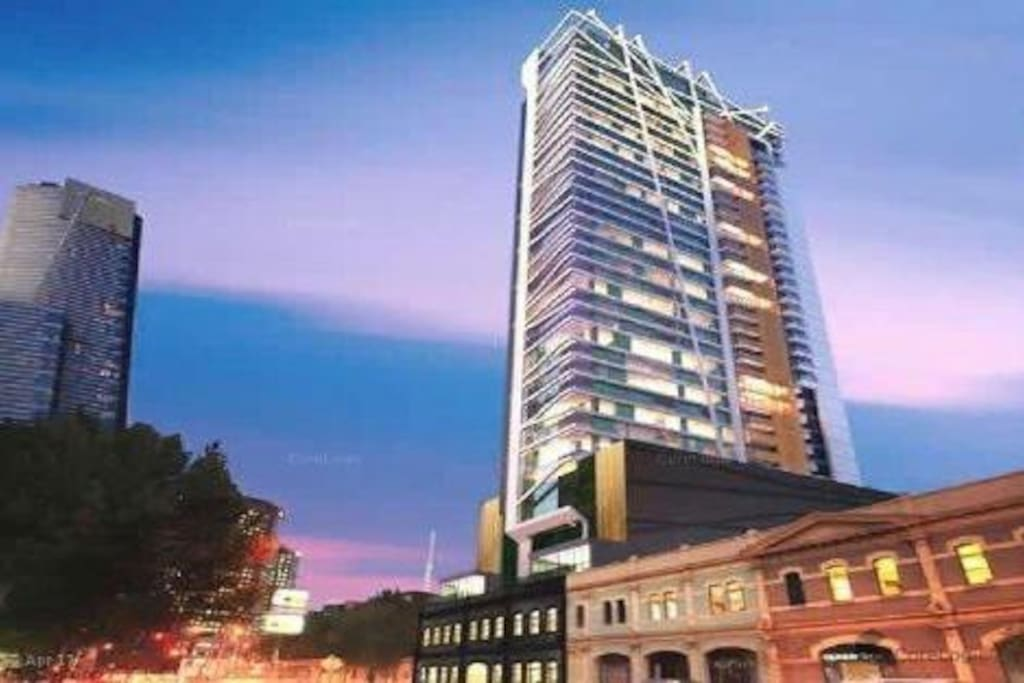 New hotel apartment tower
