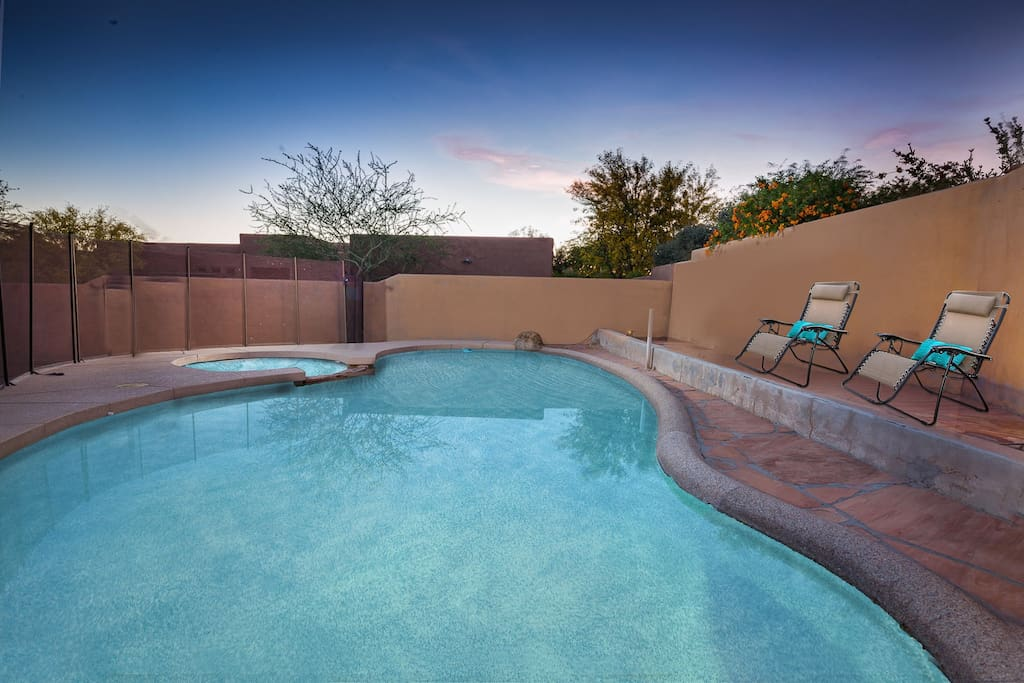 take a dip in the private pool after a day of golf!