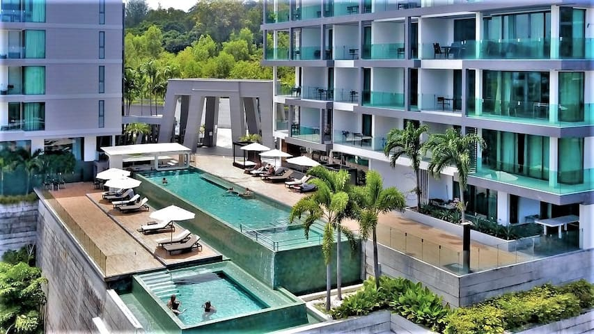 Seaview*Swimming Pool*Gym*Tri Trang&Paradise Beach