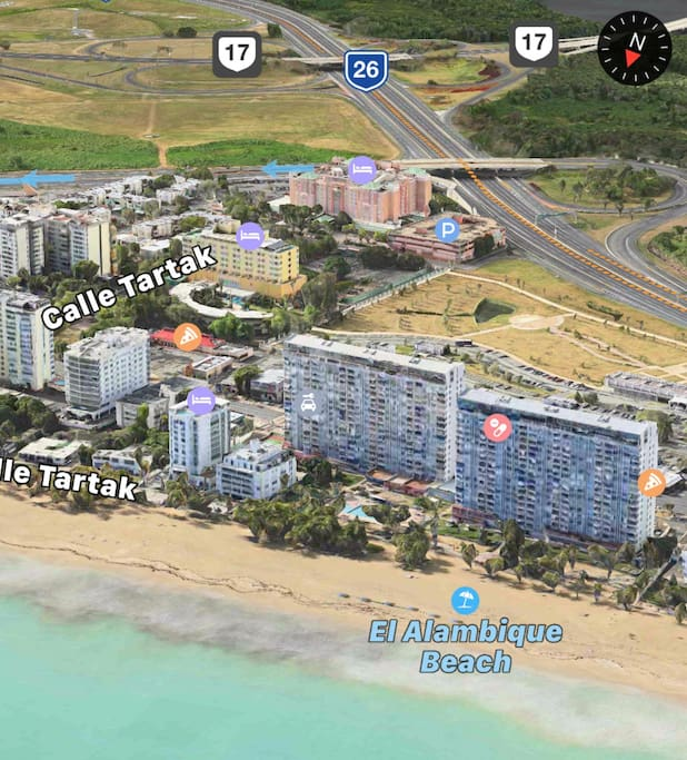 Isla verde ocean front apartment appartements louer for Armadi california porto rico