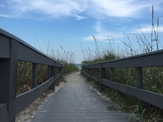 Walkway to the beach. Just 1000 feet from the condo patio