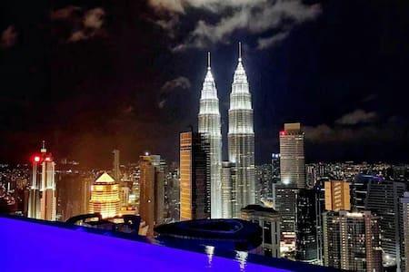 Sky Pool Cozy Room,300m to Subway Station - Kuala Lumpur - Apartamento