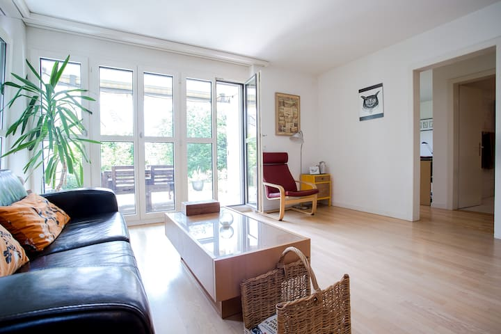 Cosy garden apartment on Züriberg - Zürih - Daire