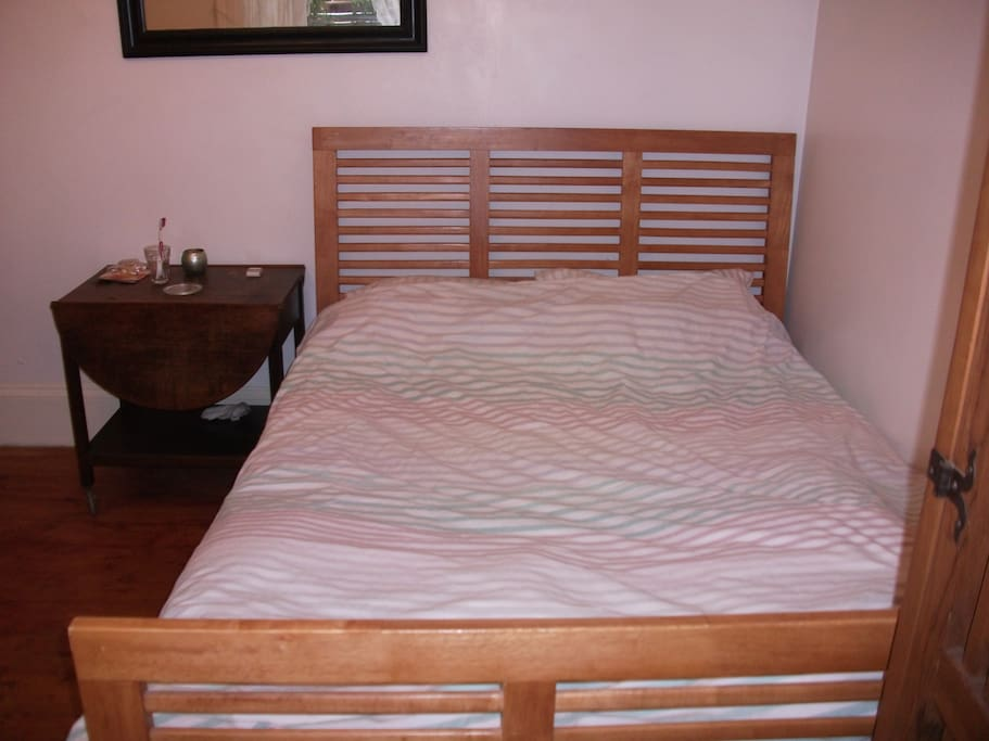 First large comfortable double bed at ground floor.